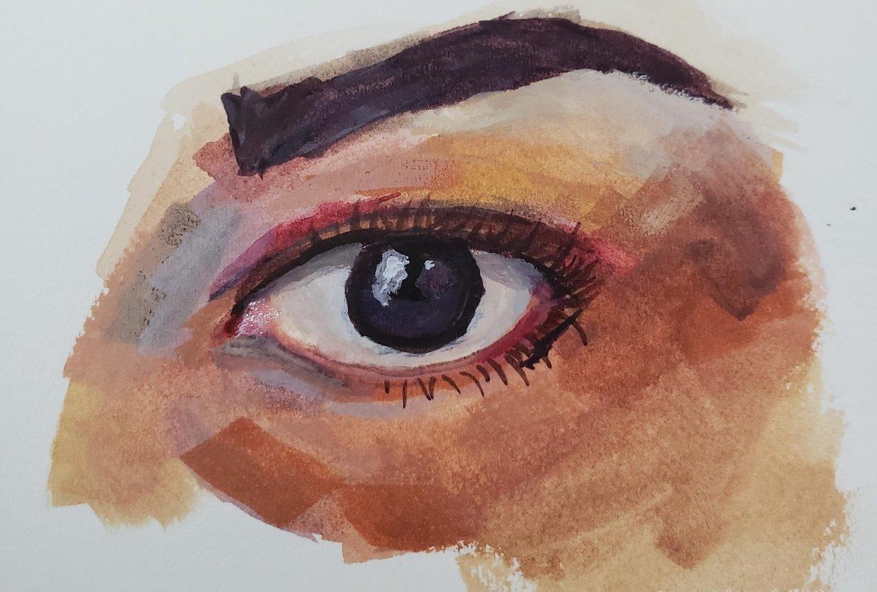 Guache Eye - student project
