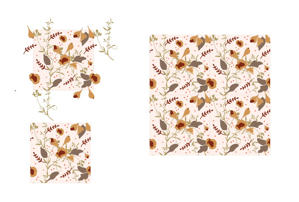 Repeat pattern on iPad with illustrator - student project