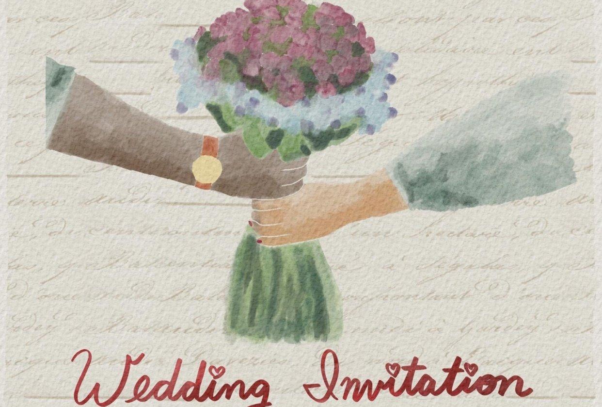 Wedding invitation - student project