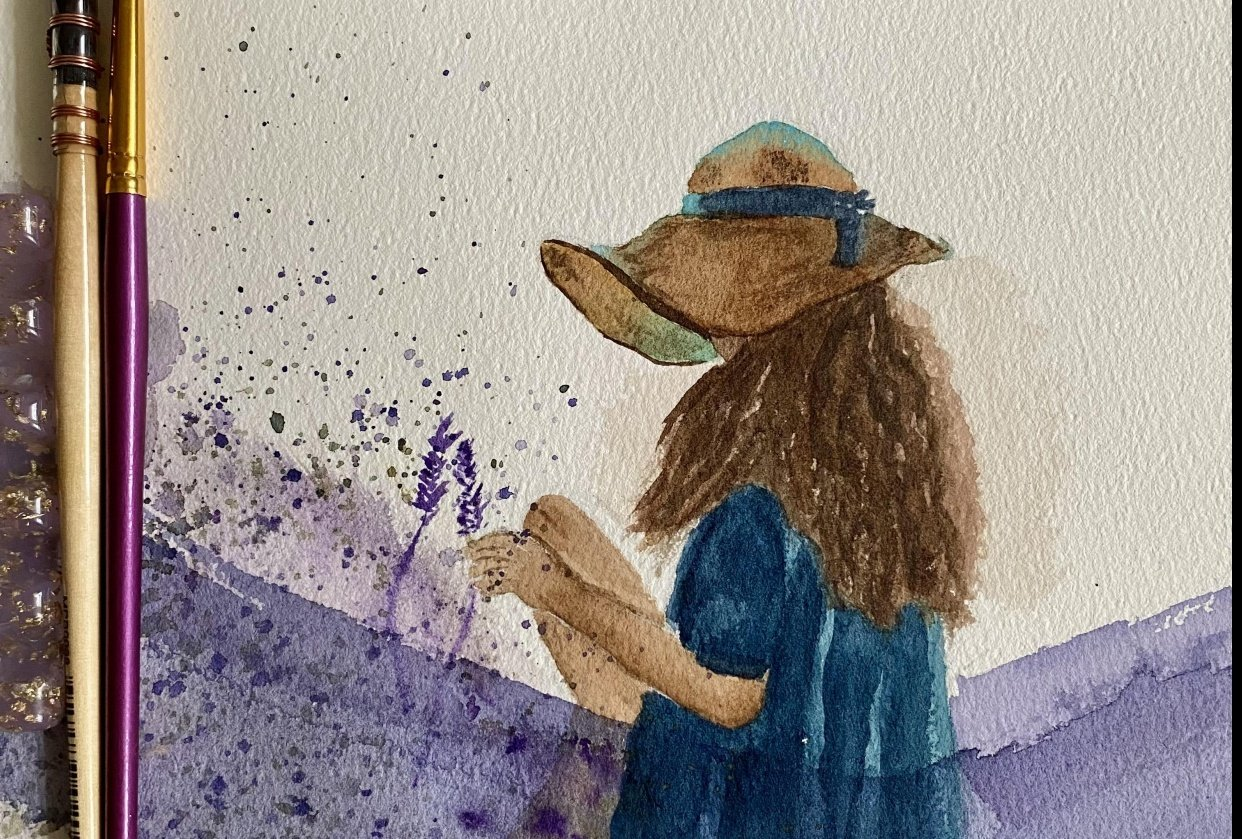 Walking lady | Lavender lady - student project