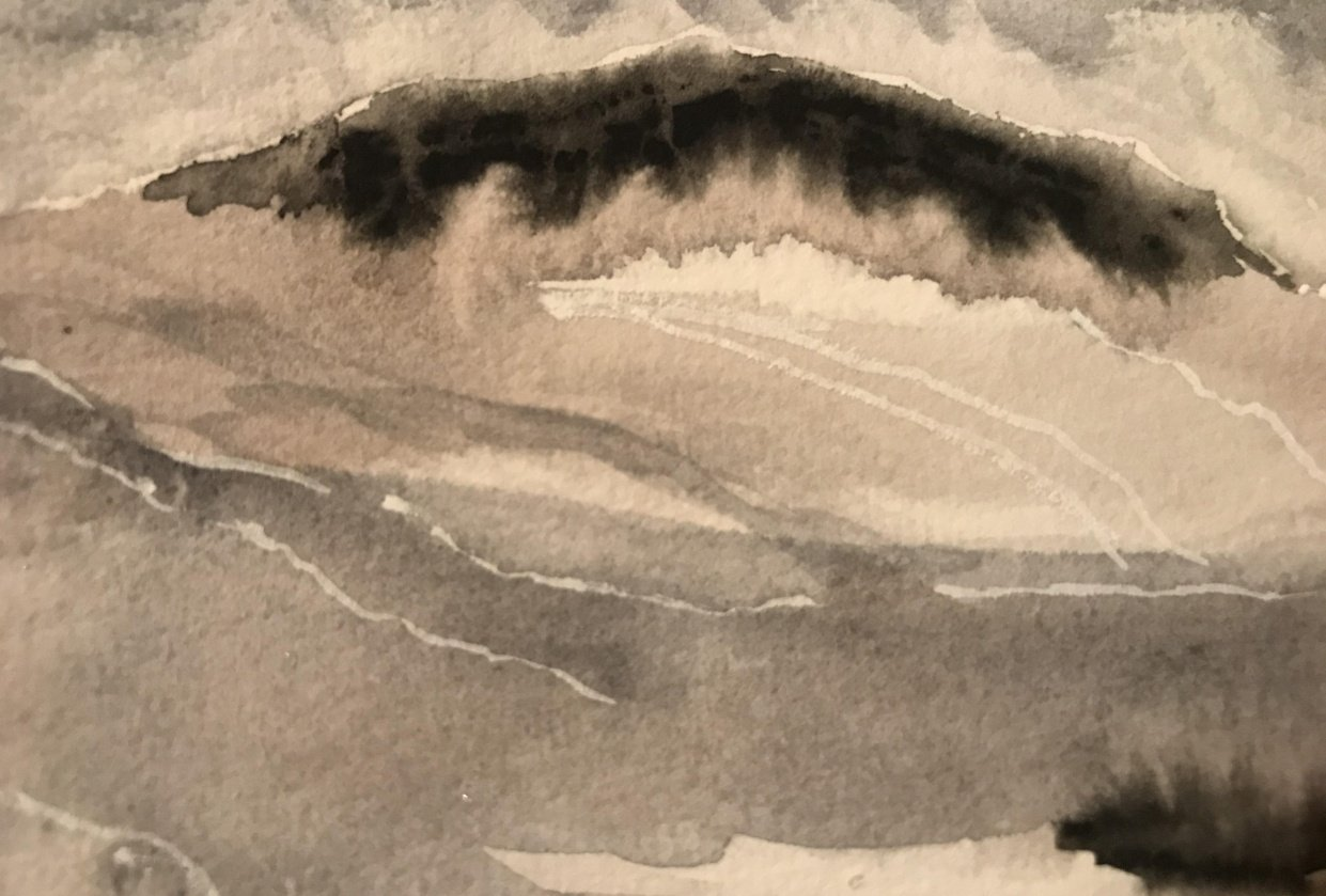 Abstract Watercolor Landscape- Part 1 - student project