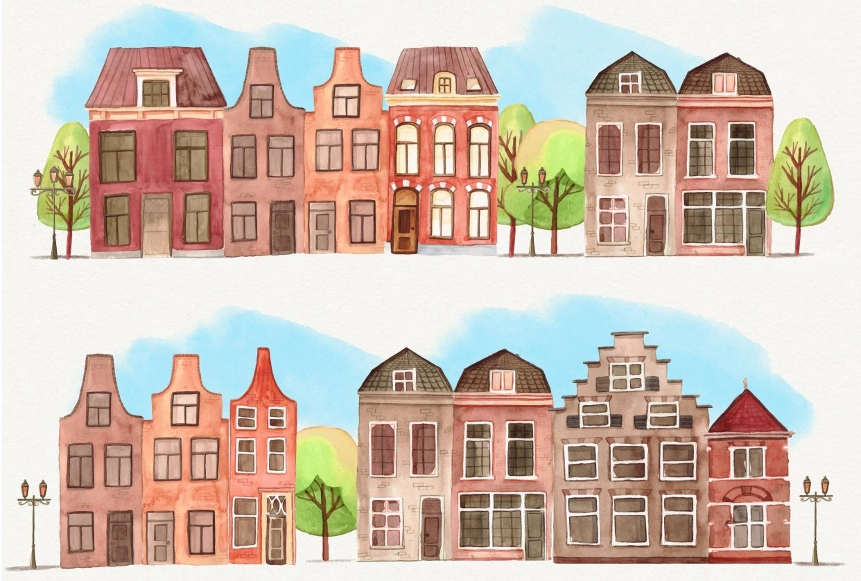 Row of Houses - student project