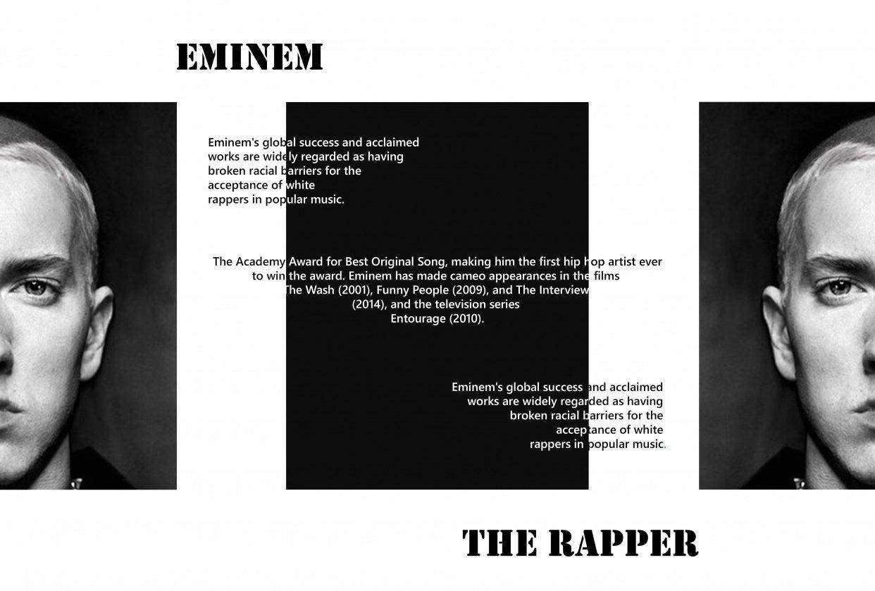 Eminem- The Rapper - student project