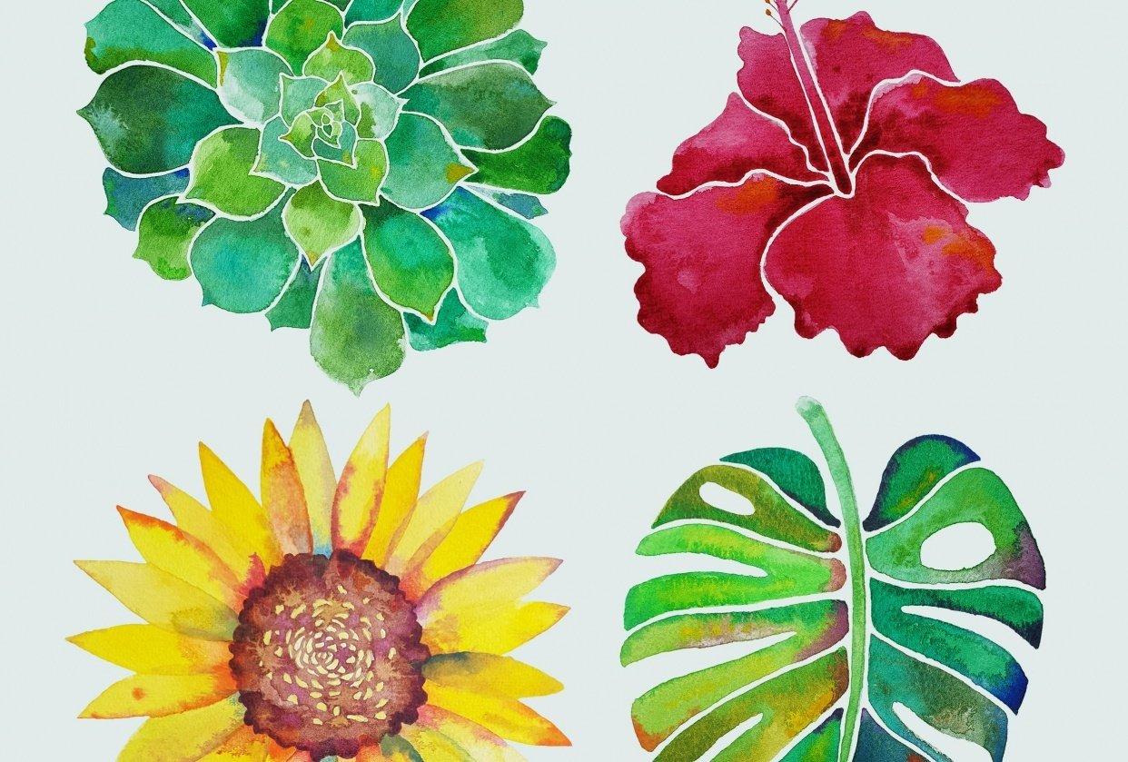 Watercolour Botanicals Practice - student project