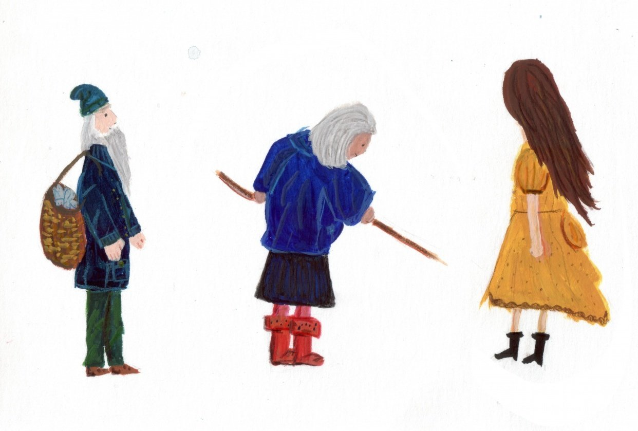 Gouache Characters - student project