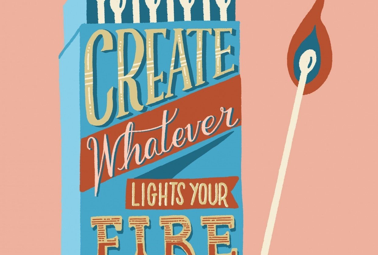 Combining Lettering and Illustration - student project