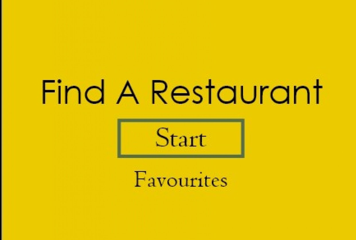 Where to Eat - student project