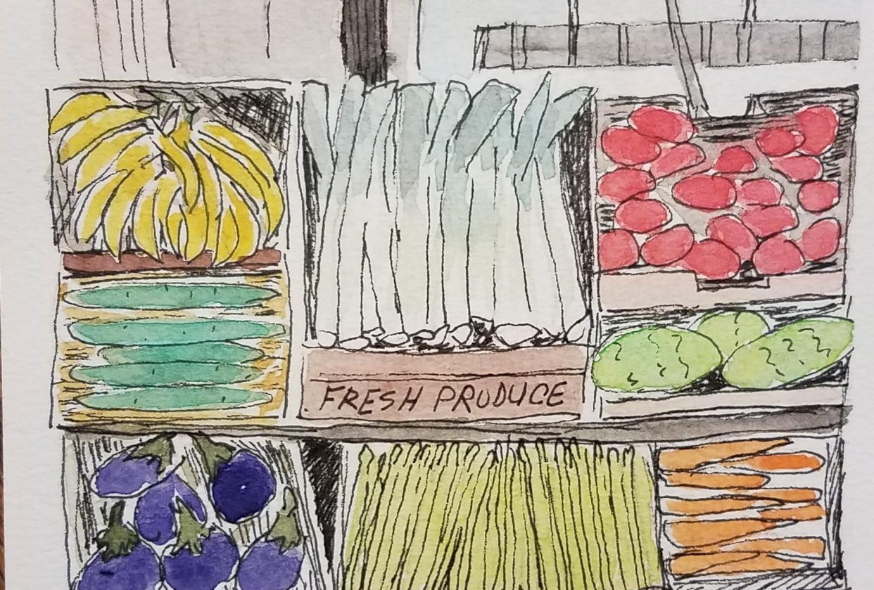 produce stand - student project