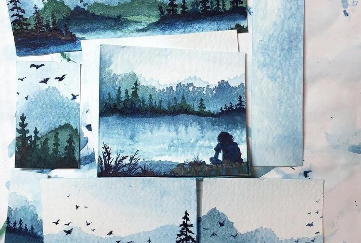 Misty Mountains Landscapes - student project