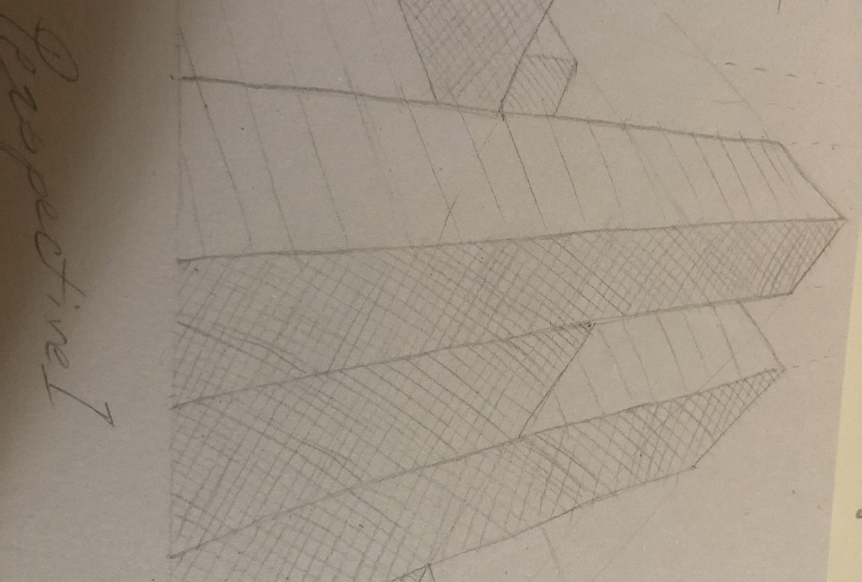 Forshortening perspective 1,2 and architectural perspective - student project