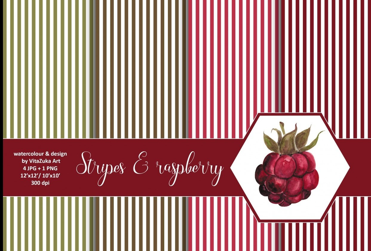 Stripes and raspberry - student project