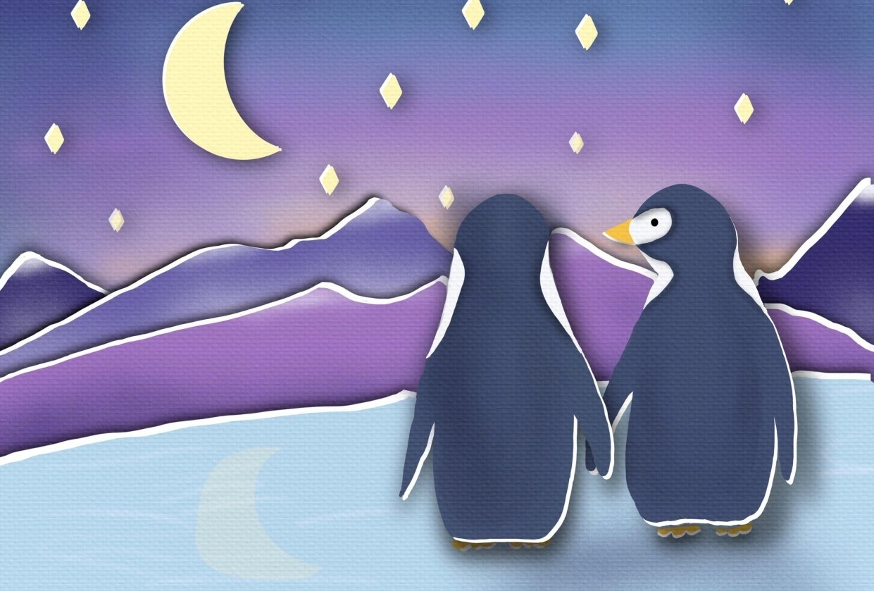 """Penguins at dawn and Little Red in the """"Hood"""" - student project"""