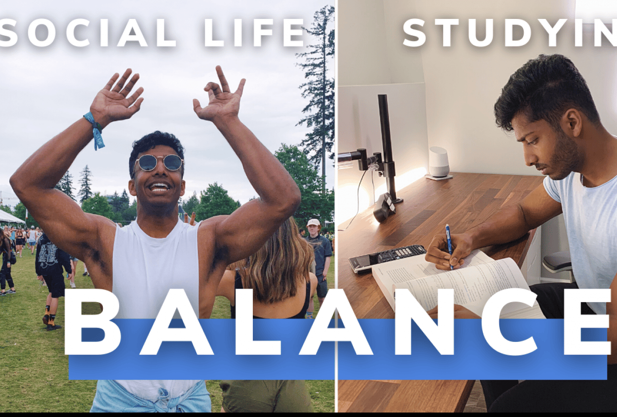 How to balance a social life while studying - student project
