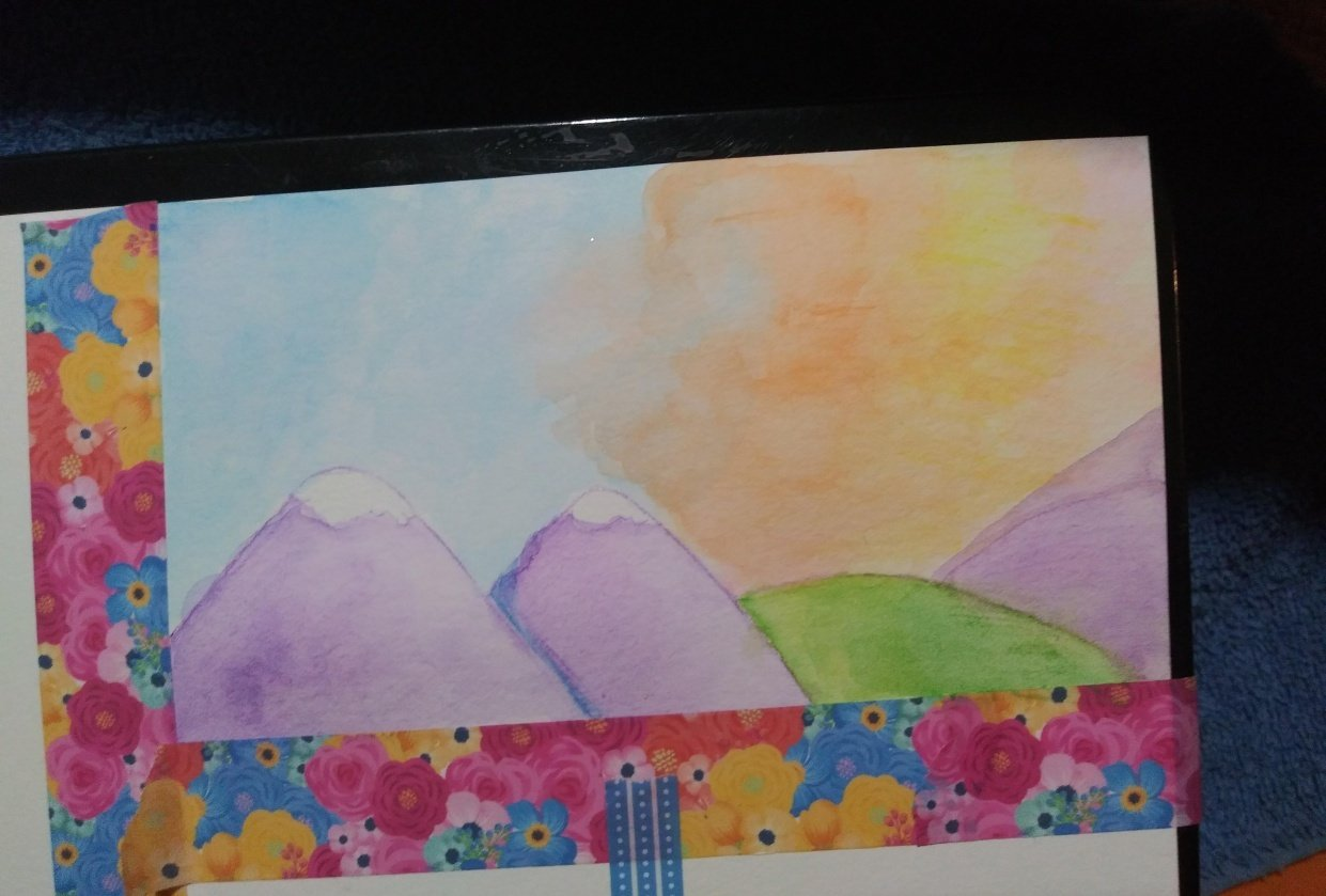 Sunset scenery - student project