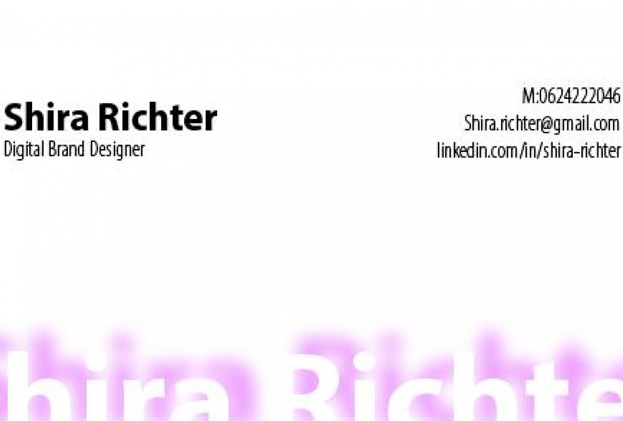 basic business card - student project