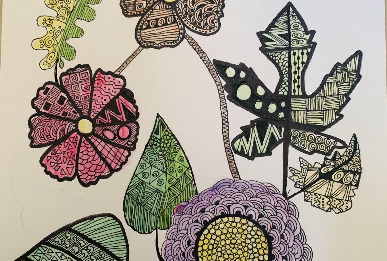 Zentangle Art - Hoomyrah Rambhia - student project