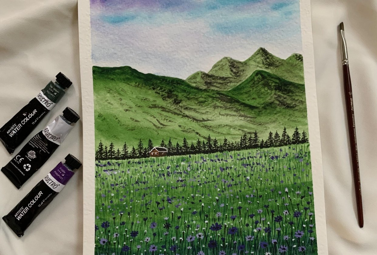 Spring meadows - student project