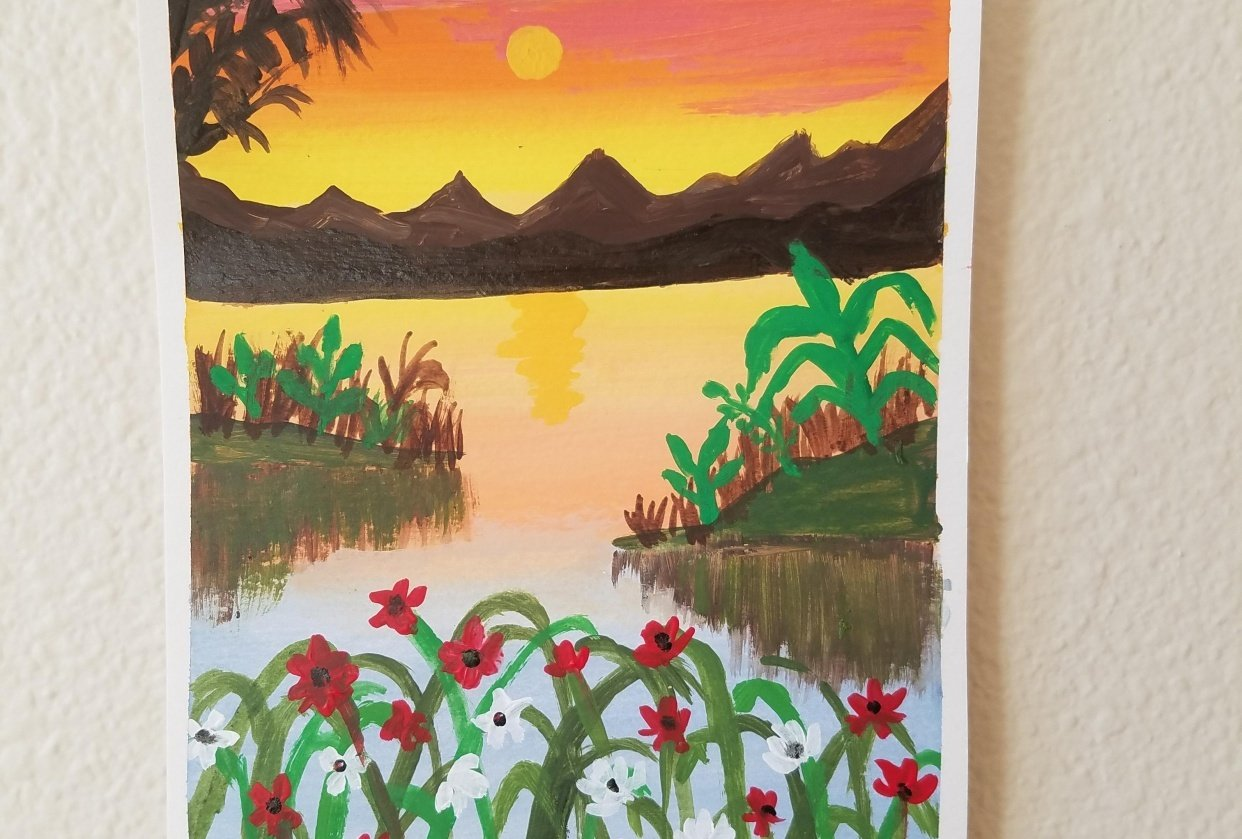 Sunset Painting - student project