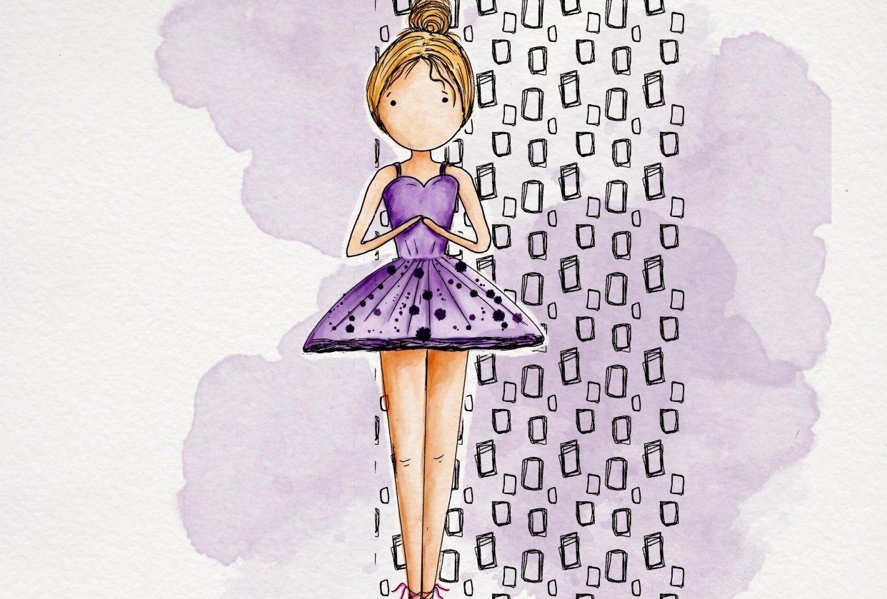 Ballerina in Purple - student project