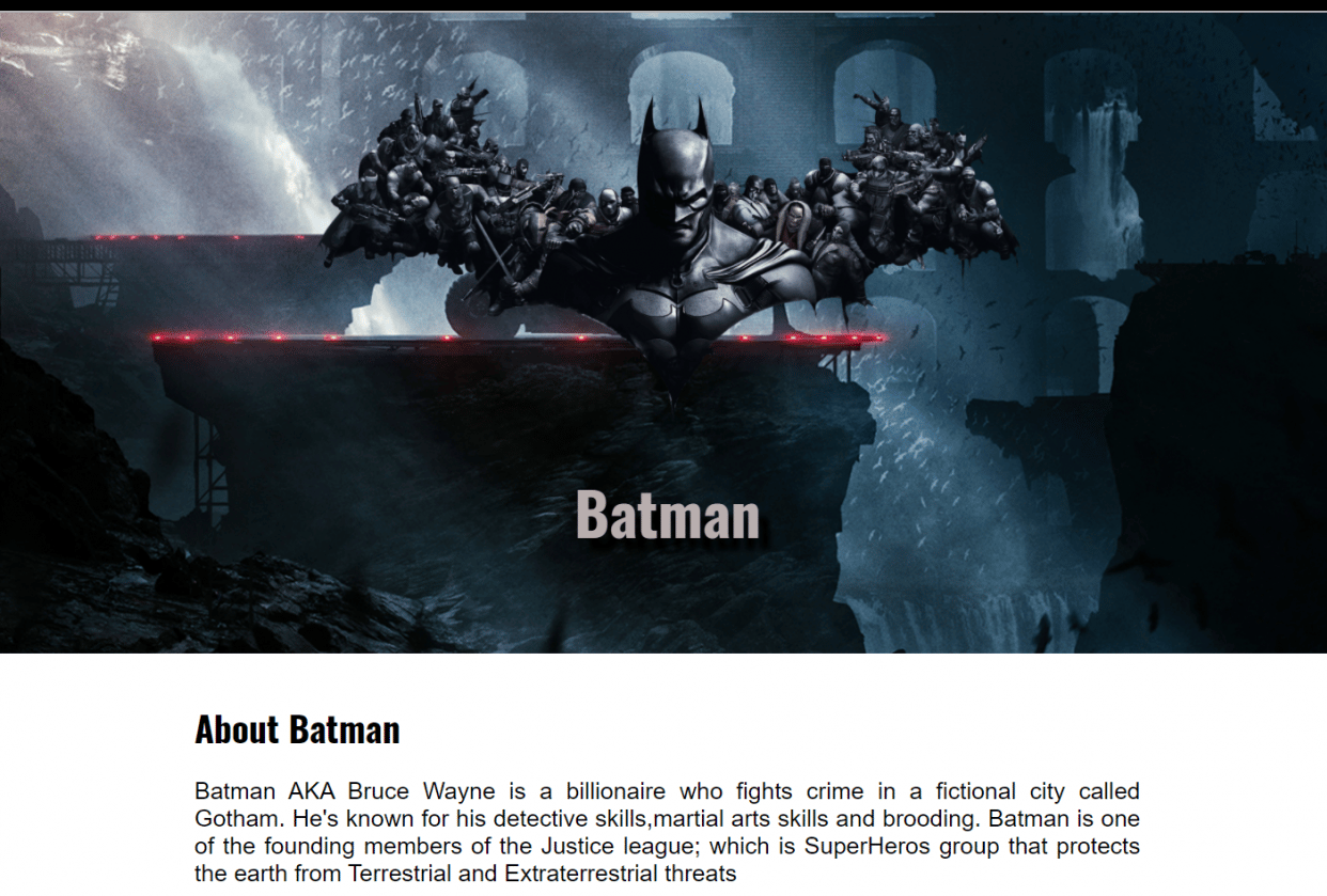Batman - student project
