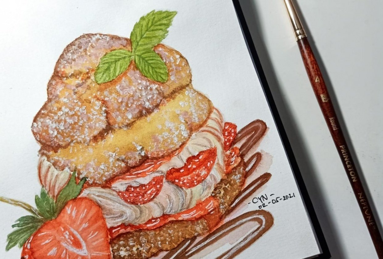 Strawberry Cream Puff Pastry - student project