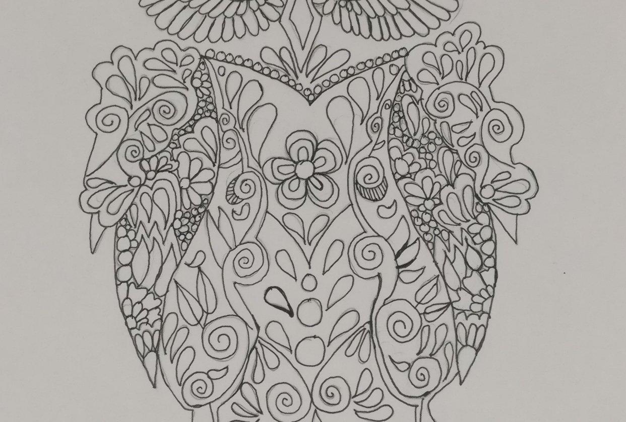 Owl Mandala - Hoomyrah Rambhia - student project