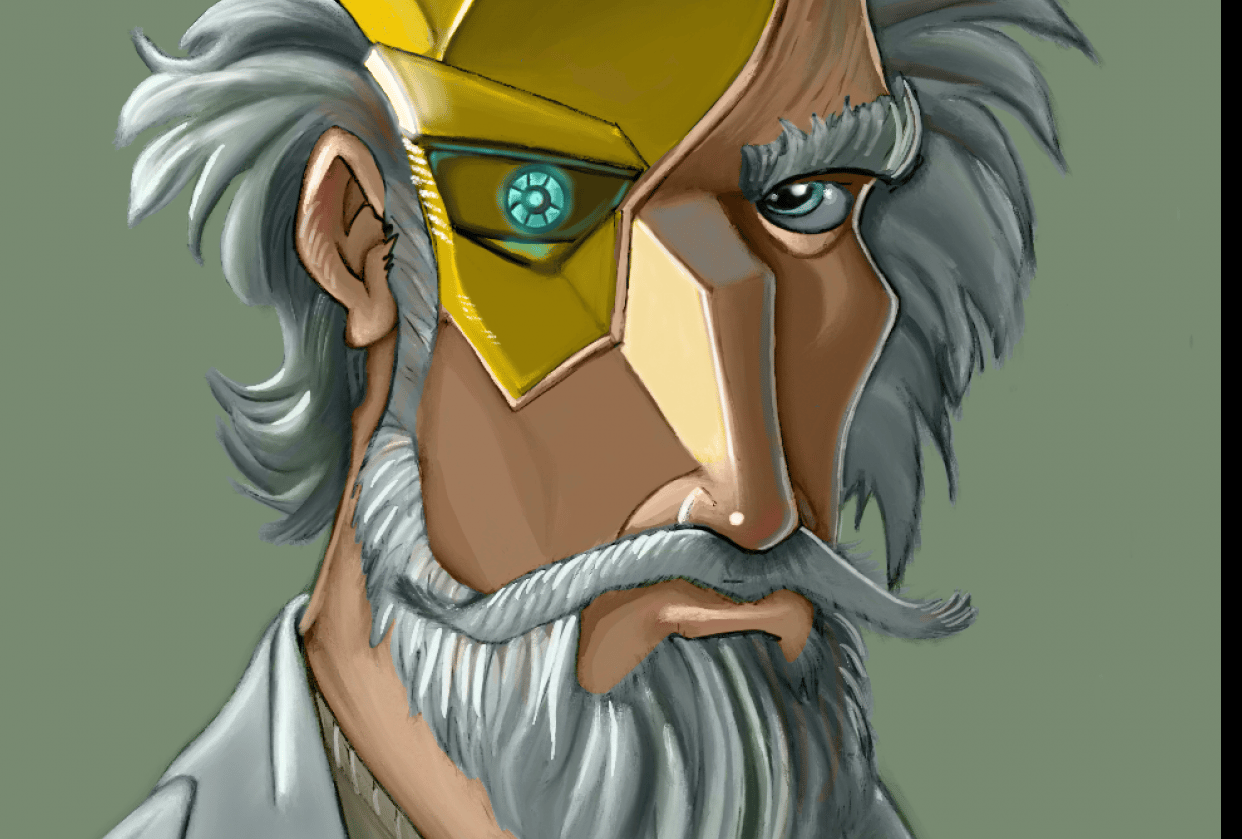 Mad Scientist - Digital Painting - student project