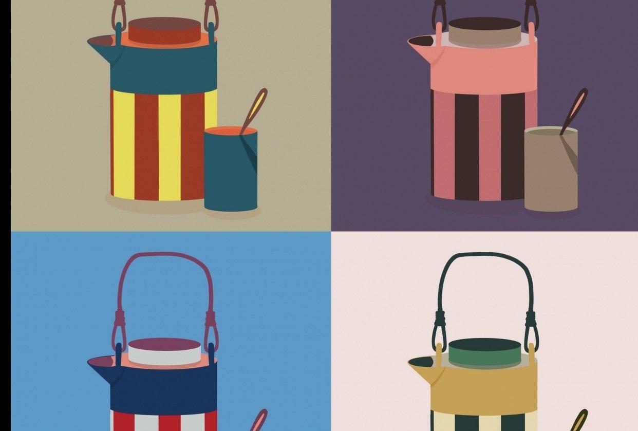 stripe kettle - student project
