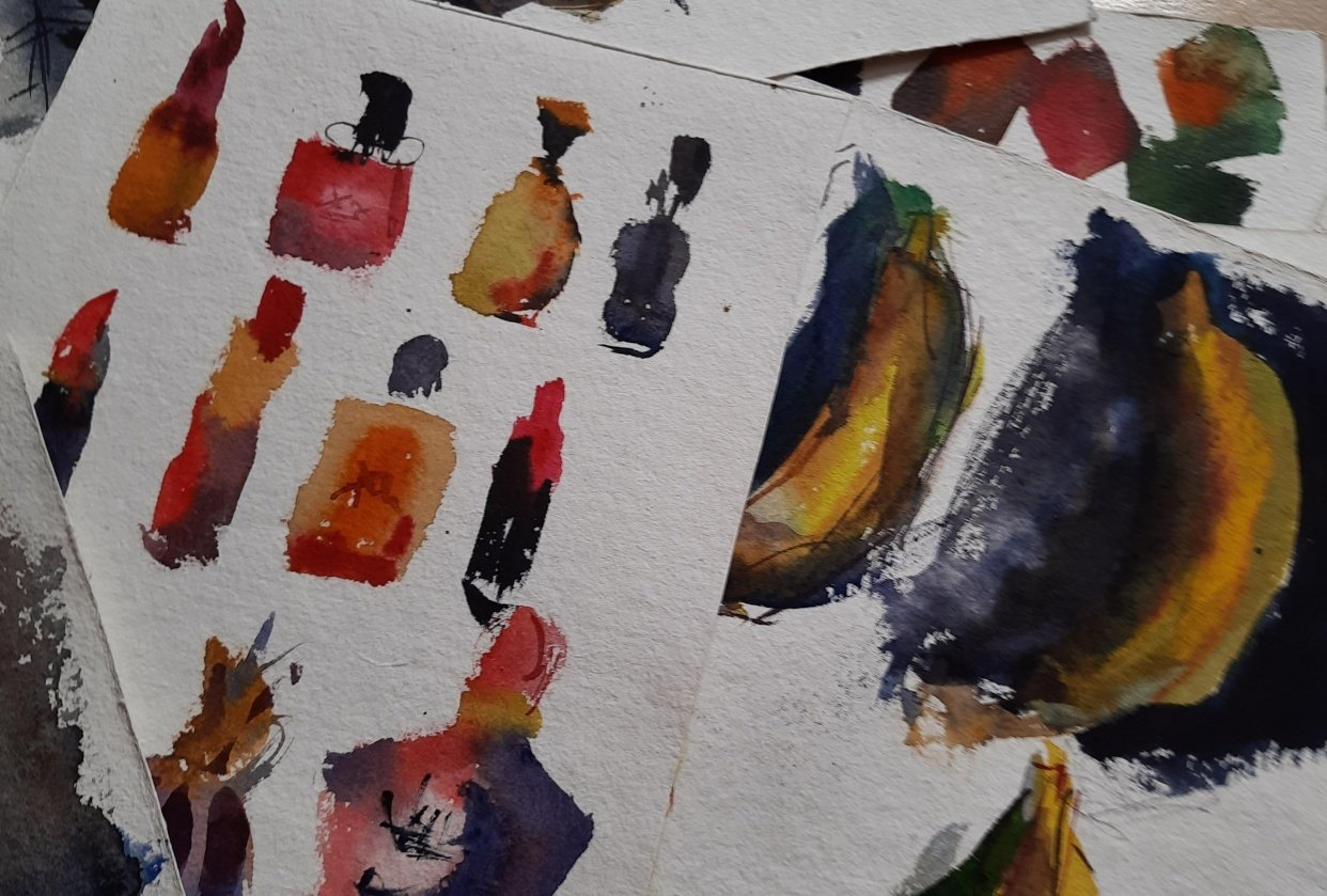 Watercolor workout - student project
