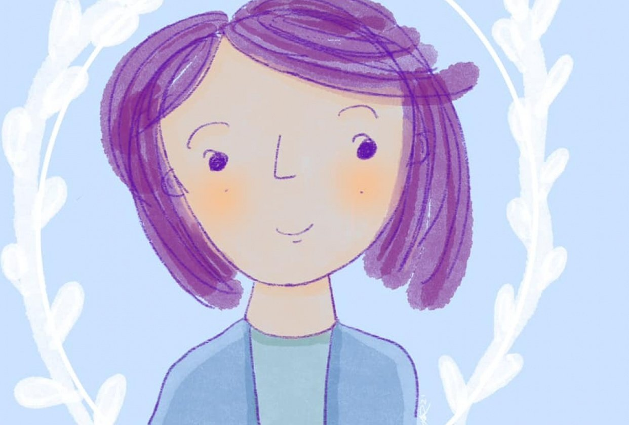 Simple self portrait - student project