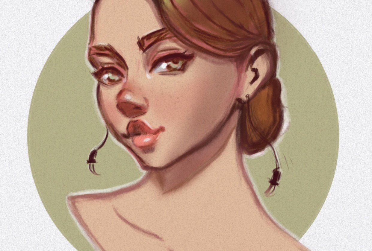 Female character in color - student project