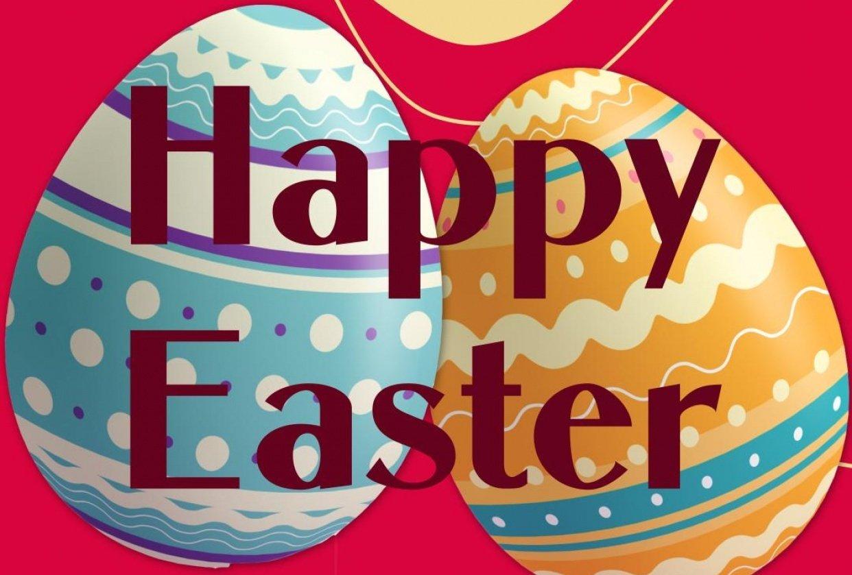 Easter Instagram-Postcard - student project