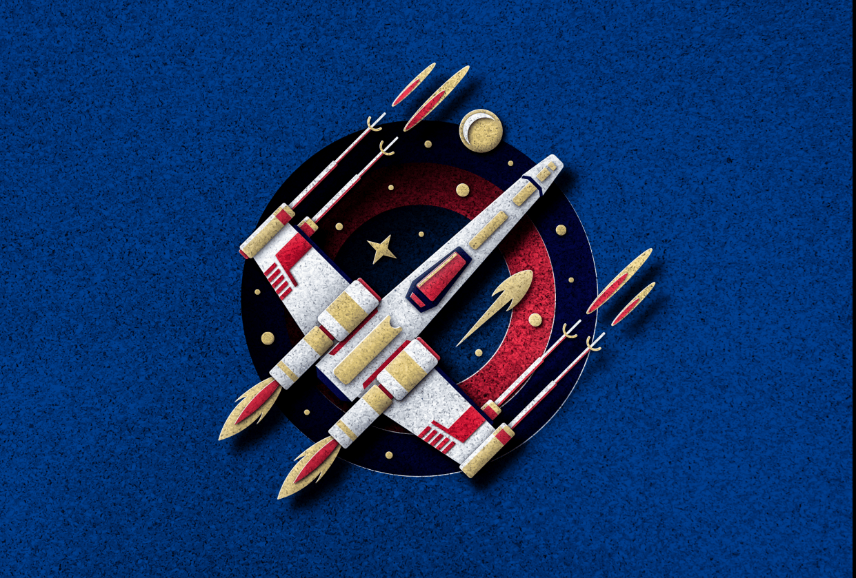 Paper Pop-Up Style X-Wing - student project