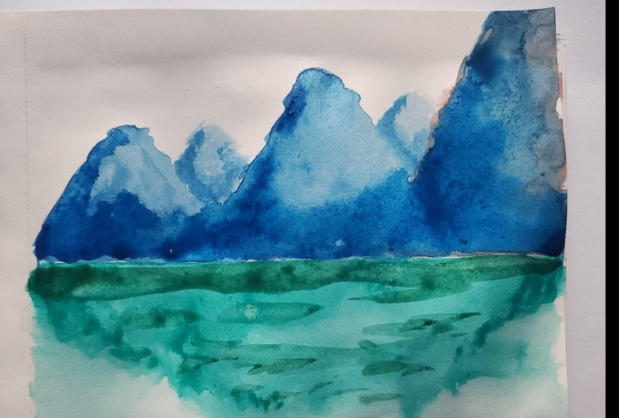 Mountain Painting - student project