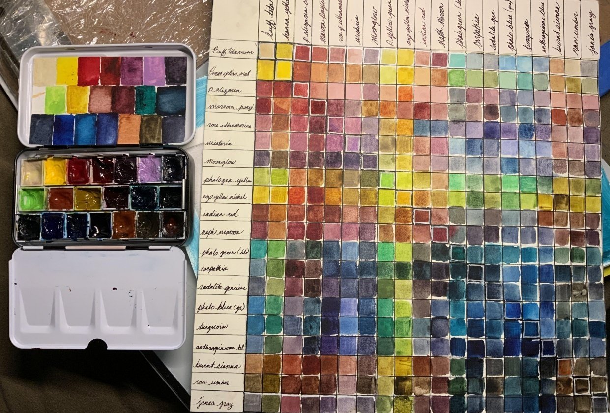 custom palette color chart - student project