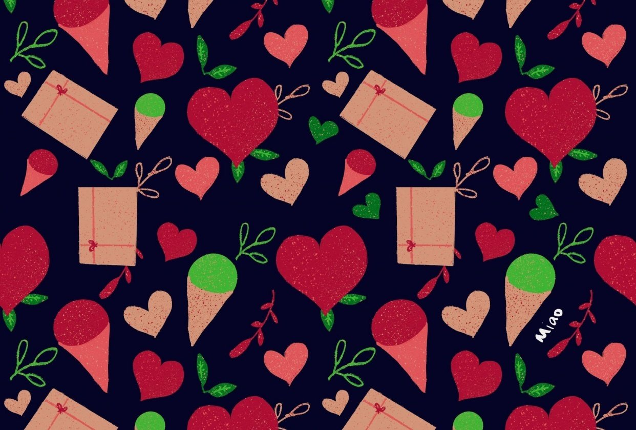 Simple V Day pattern - student project