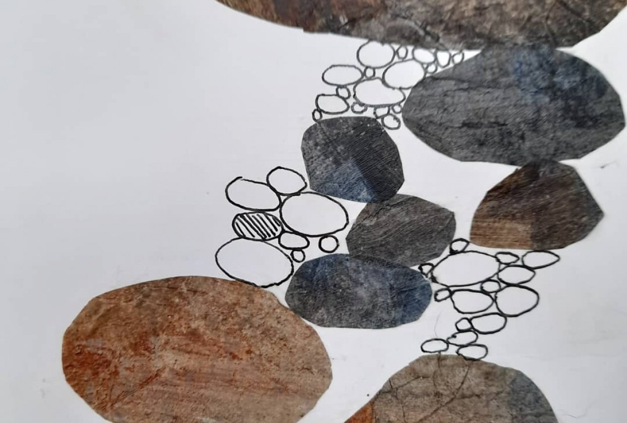 Collage pebbles - student project