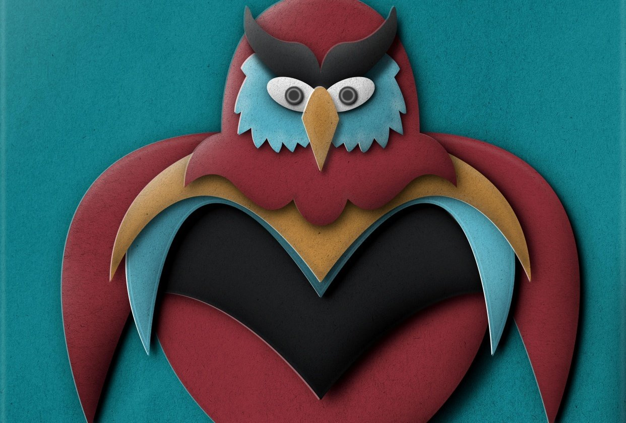 Owl Pop Up Illustration - student project