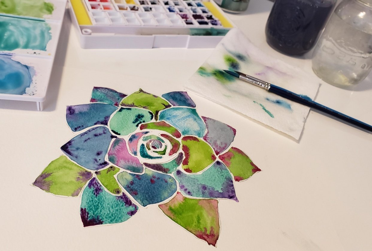 Botanical Watercolour Projects - student project