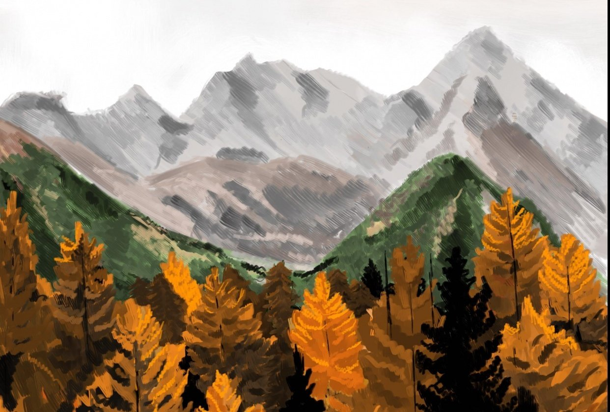 Fall trees - student project