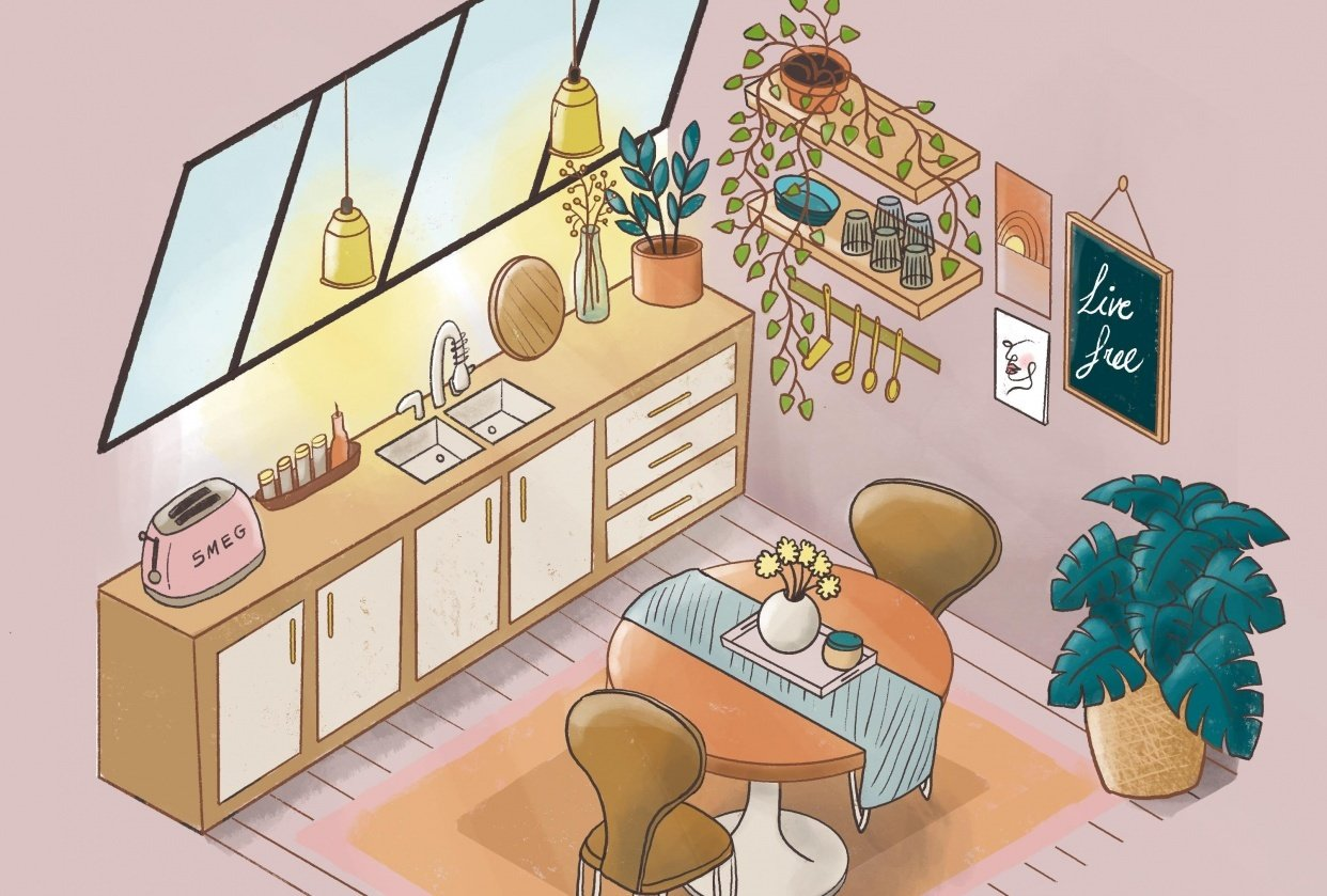 Loft kitchen - student project