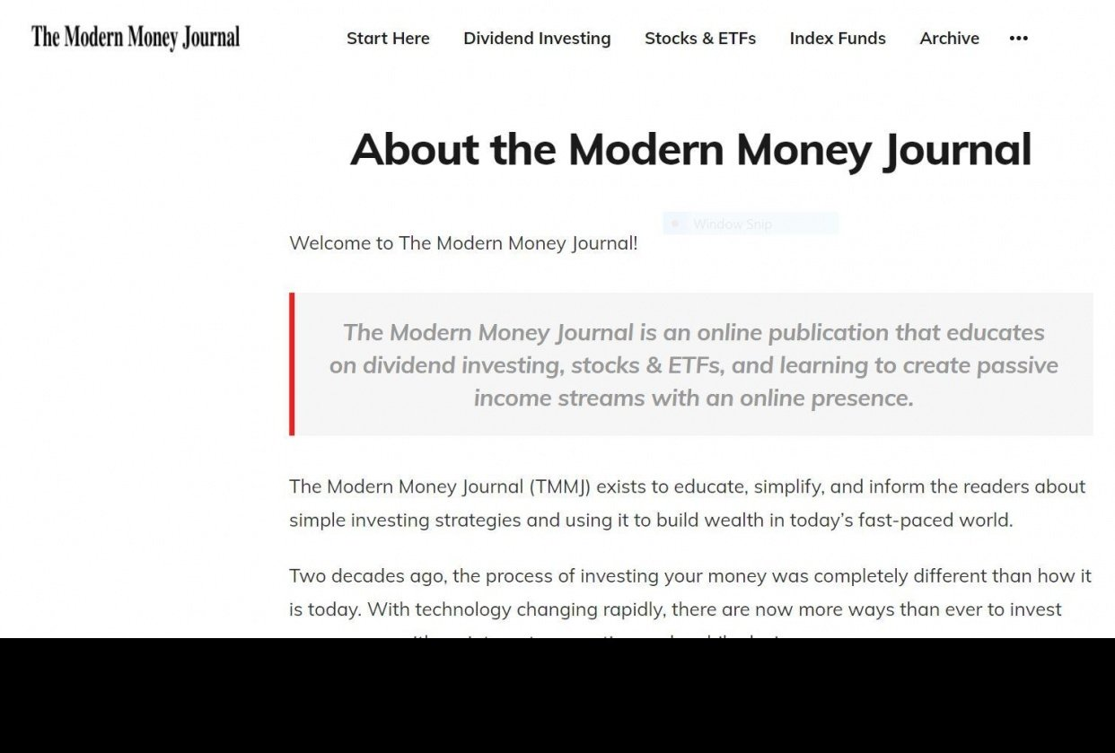 The Modern Money Journal - student project