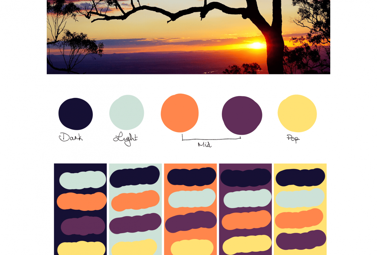 Australian Summer Palette - student project