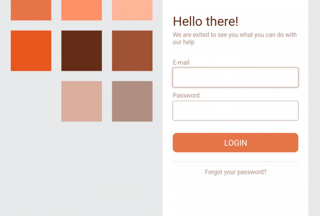Swish login screen - student project