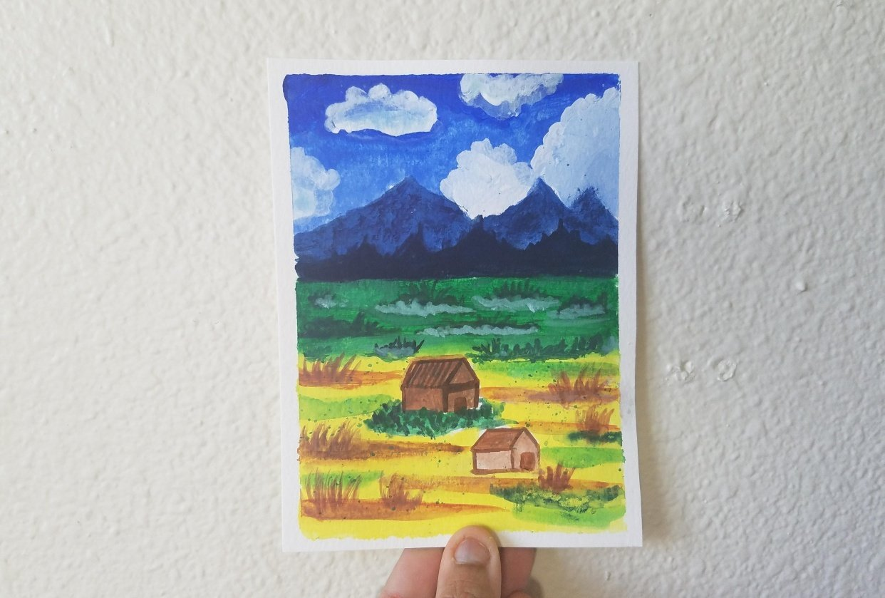 BEGINNERS GUIDE FOR BEGINNING WITH GOUACHE - student project