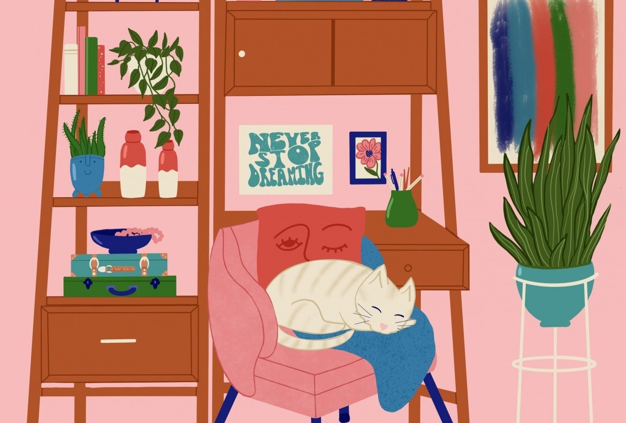 Scene with a cat! - student project
