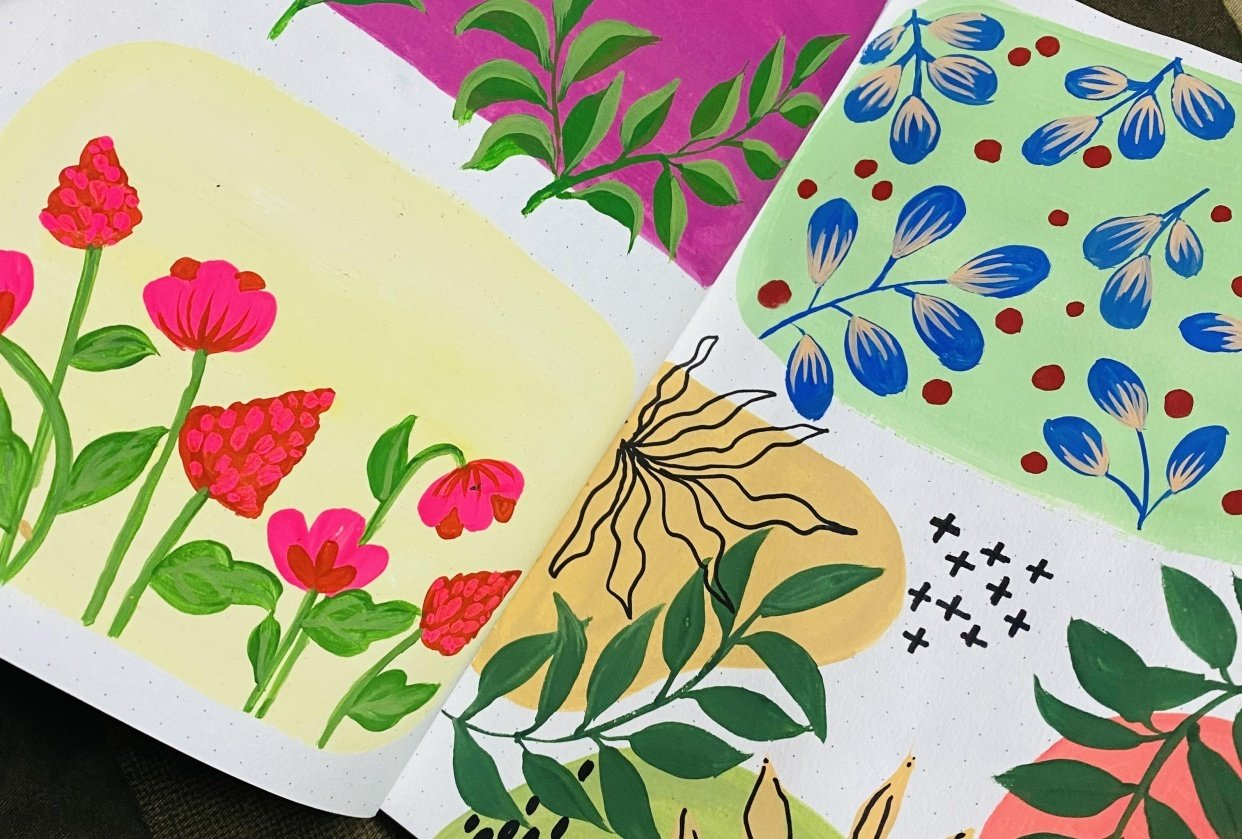 Pattern Painting with Goauche - student project