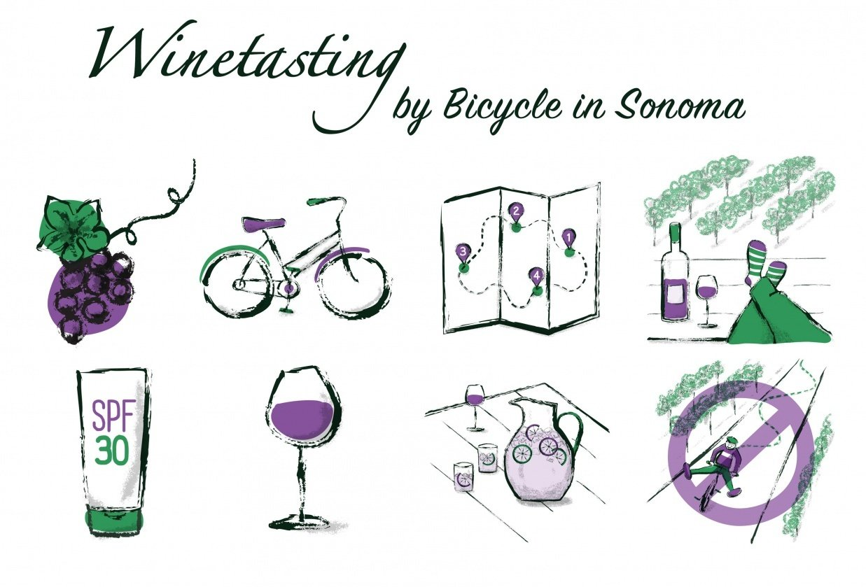 Wine Tasting by Bicycle in Sonoma - student project