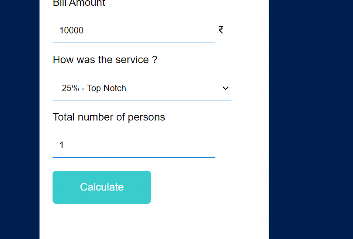 Tip Calculator - student project