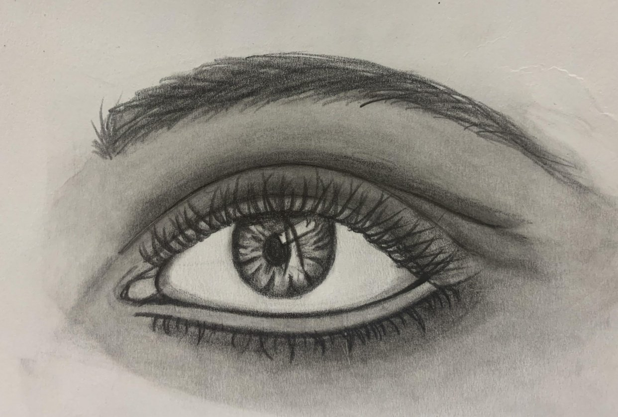 real eye practice with teacher's lesson - student project